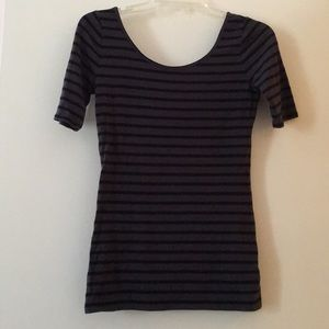 Grey and black striped top - never worn